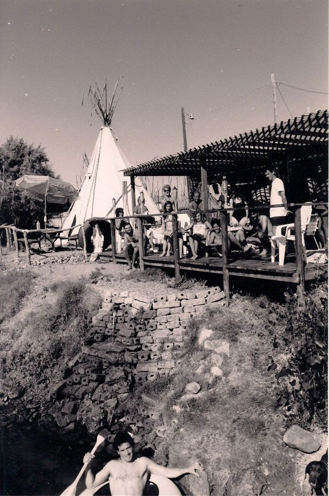 Old Picture of Guests on Riverdeck. Circa early 90s